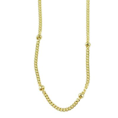 Gold Vermeil Over Sterling Trinket Chain