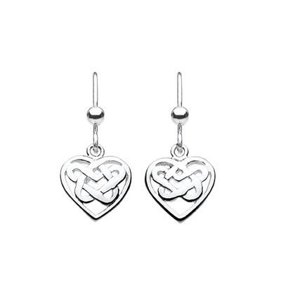Kit Heath Sterling Silver Celtic Heart Earrings