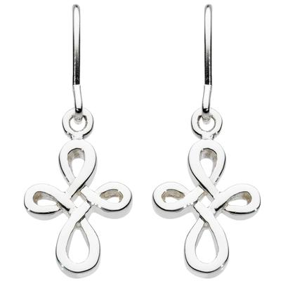 Kit Heath Small Sterling Silver Twist Cross Earrings