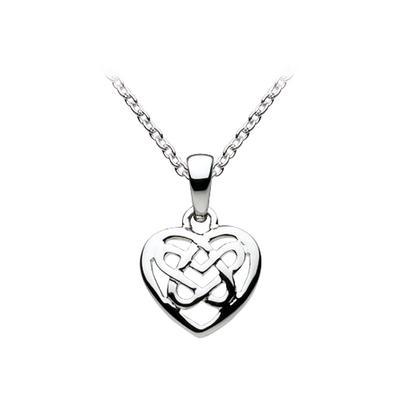 Kit Heath Sterling Silver Celtic Heart Necklace