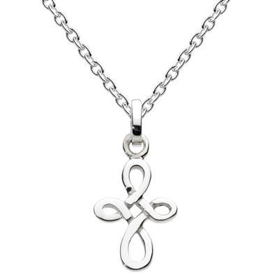 Kit Heath Small Sterling Silver Celtic Twist Cross Necklace