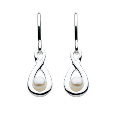 Kit Heath Sterling Silver Infinity Pearl Earrings