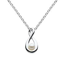 Kit Heath Sterling Silver Infinity Pearl Necklace