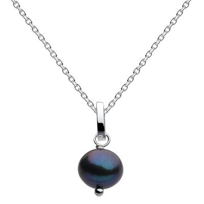 Kit Heath Sterling Silver Blue Pearl Necklace