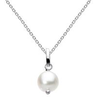 Kit Heath Sterling Silver White Pearl Necklace