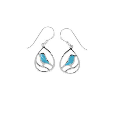 Boma Sterling Silver & Turquoise Bird Earrings