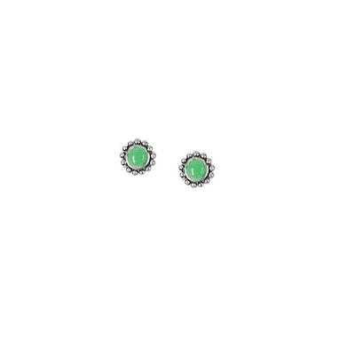 Boma Green Turquoise & Sterling Silver Studs