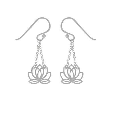 Boma Sterling Silver Lotus Drop Earrings