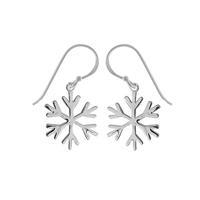 Boma Sterling Silver Snowflake Earrings