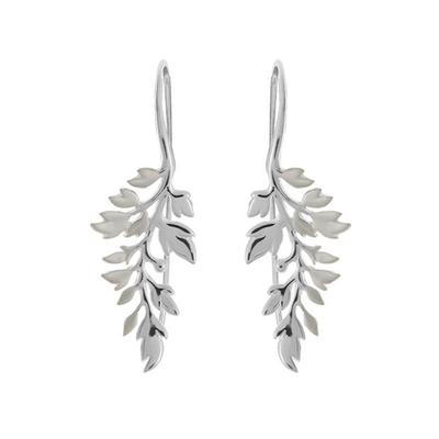 Boma Brushed & Polished Sterling Silver Branch Earrings