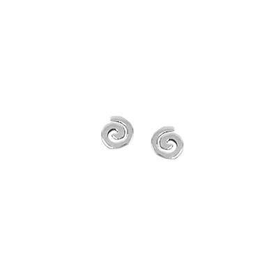Boma Sterling Silver Swirl Studs