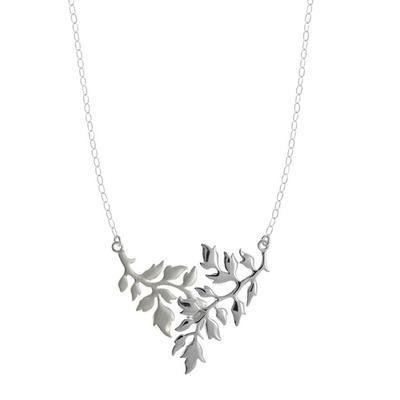 Boma Brushed & Polished Sterling Silver Branch Necklace