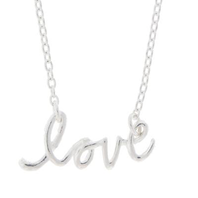 Tashi Sterling Silver Mini Love Necklace
