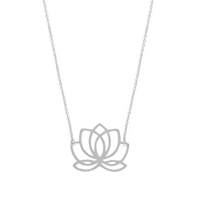 Boma Sterling Silver Lotus Necklace