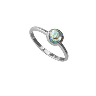 Boma Round Abalone & Sterling Silver Ring