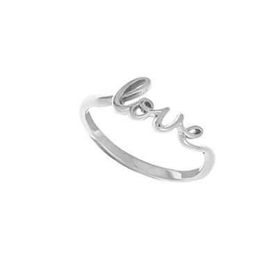 Boma Sterling Silver Cursive Love Ring