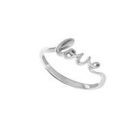 Boma Sterling Silver Cursive Love Ring
