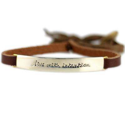 Live With Intention Alpaca Metal Leather Bracelet