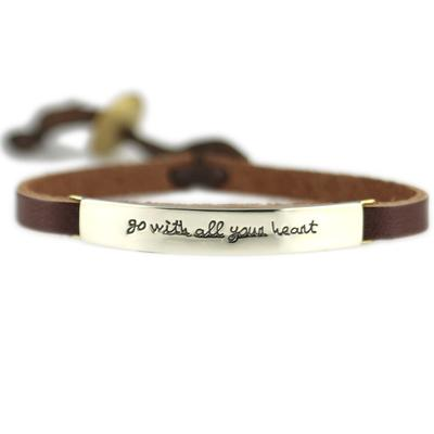 Go With All Your Heart Alpaca Metal Leather Bracelet