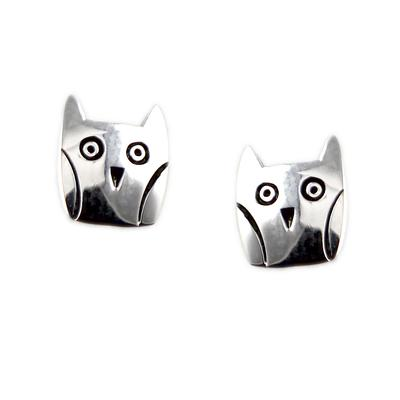 Far Fetched Sterling Silver Wise Owl Studs