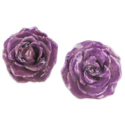 Lilac Rose Studs