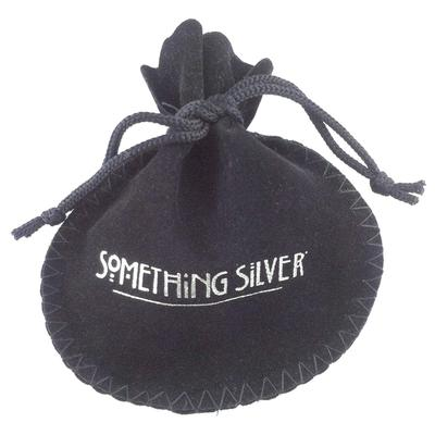 Something Silver Velvet Pouch