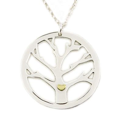 Far Fetched Sterling Silver Family Tree Necklace