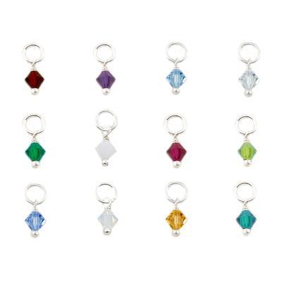 Far Fetched Sterling Silver & Swarovski Crystal Birthstone Charms