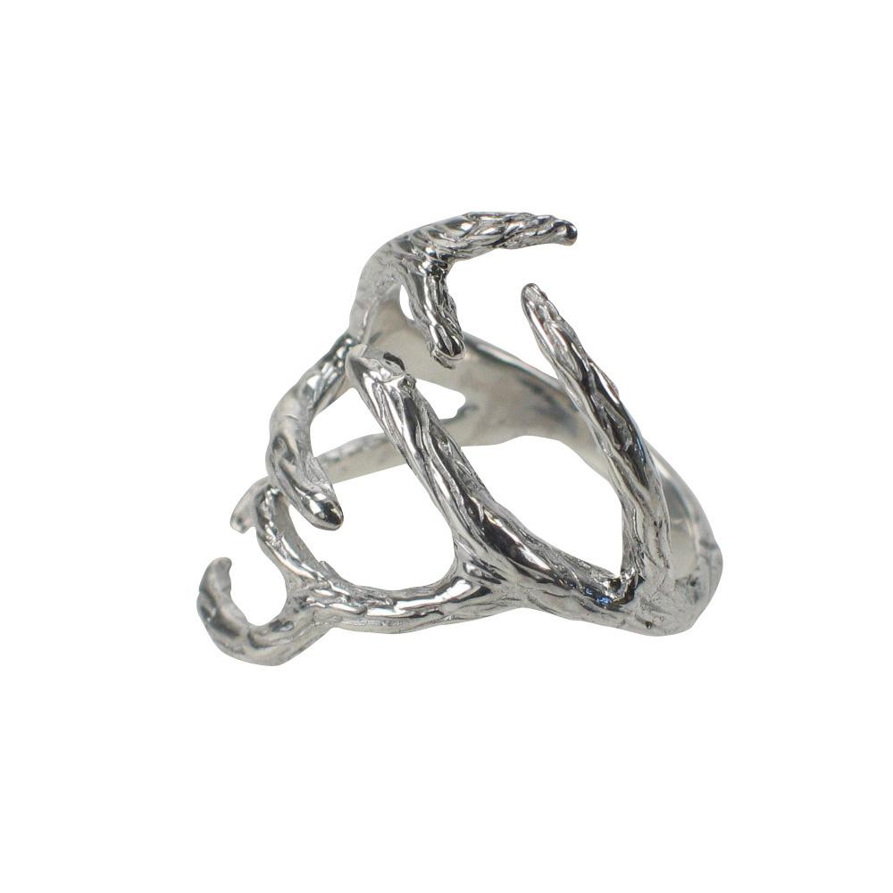 something silver mimi marge sterling silver antler ring