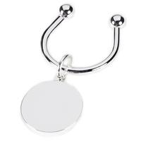 Silver Plated Round Tag Key Ring