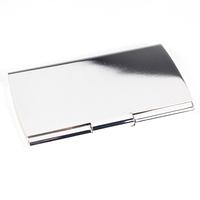 Plain Silver Plated Business Card Case