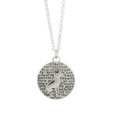 Kevin N Anna Sterling Silver Pit Bull Necklace