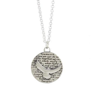 Kevin N Anna Sterling Silver Seahawk - Teamwork Necklace