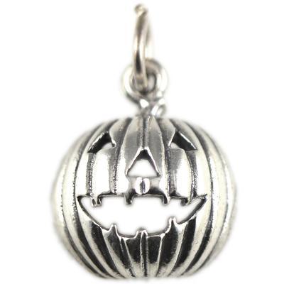Sterling Silver Jack- O- Lantern Charm