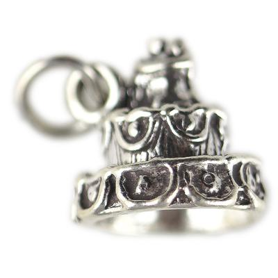 Sterling Silver Wedding Cake Charm