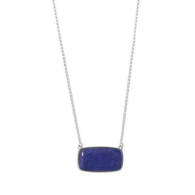 Boma Rectangle Lapis Sterling Silver Necklace