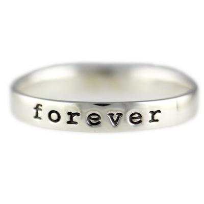 Far Fetched Stackable Sterling Silver Forever Ring