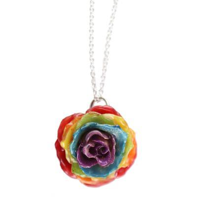 Small Rainbow Gypsy Rose Necklace