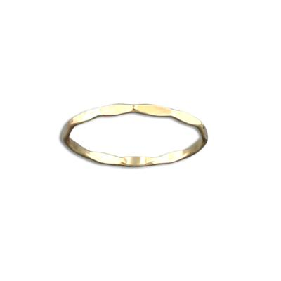 Tiny Hammered Gold Filled Stacking Ring