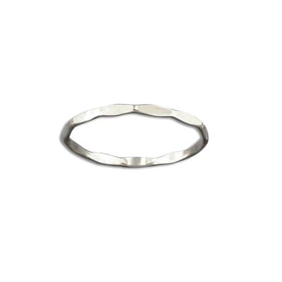 Tiny Hammered Sterling Silver Stacking Ring