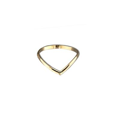Tiny Gold Filled V Stacking Ring
