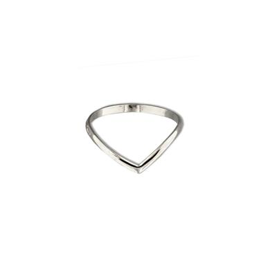 Tiny Sterling Silver V Stacking Ring