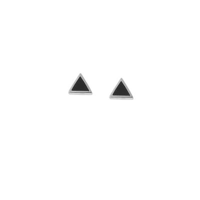 Boma Sterling Silver & Black Onyx Triangle Studs