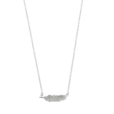 Boma Sterling Silver Feather Necklace