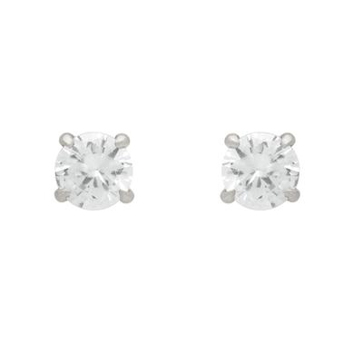 Sterling Silver Eagle Claw Set Cz Studs