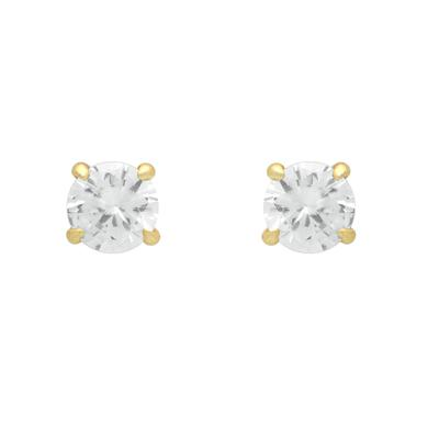 Gold Plated Eagle Claw Set Cz Studs