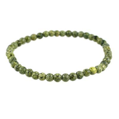 Power Mini Green Lace Agate Bracelet - Wholeness