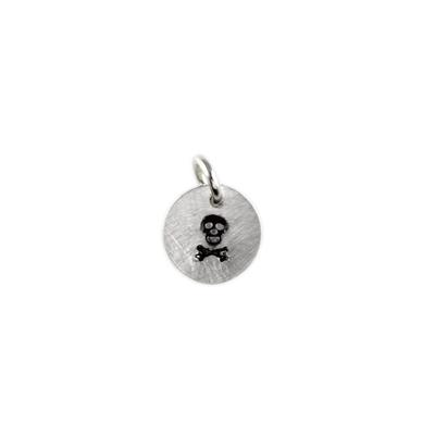 Kelley Reese Sterling Silver Tiny Skull Charm