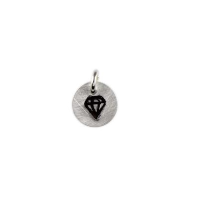 Kelley Reese Sterling Silver Tiny Diamond Charm