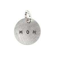 Kelley Reese Round Sterling Silver MOM Pendant